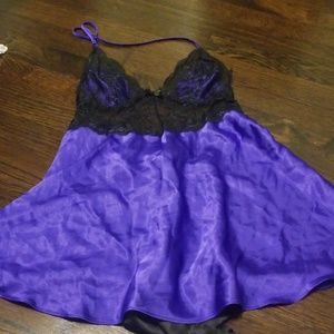 Purple and black lingerie
